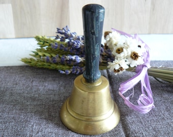 Ancient Bell brass and wood handle
