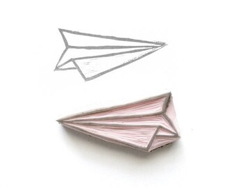 Paper Airplane Rubber Stamp | 008052
