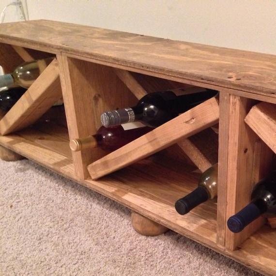 wine storage farmhouse wood crate storage bench entryway