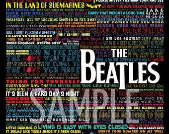 The Beatles Fabric Art Quilt  Block BEAT237- FREE SHIPPING