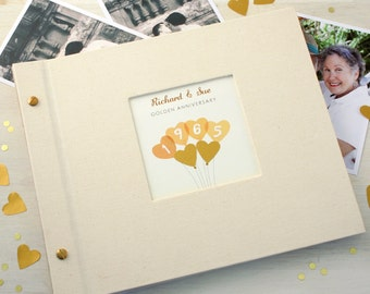 Personalised Golden Wedding Anniversary Photo Album
