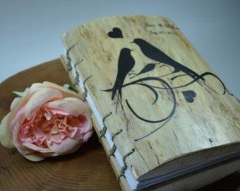 WEDDING GUEST BOOK Wood Natural  Rustic,handmade journal Wood book rustic, natura weddings