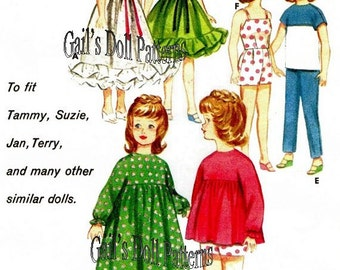 "Vintage Wardrobe Pattern for 12"" Fashion Dolls"