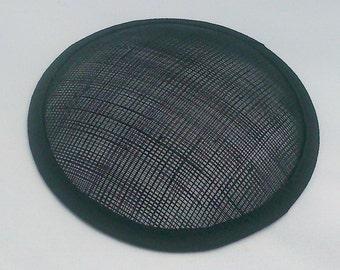 hat base sinamay round  fascinator base hat making  13cm (5 inch) diameter black hatbase