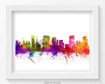 Birmingham England Poster, Birmingham Skyline, Birmingham Cityscape, Birmingham Print, Birmingham Art, Home Decor, Gift Idea 02