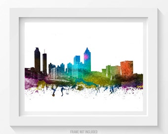 Atlanta Poster, Atlanta Skyline, Atlanta Cityscape, Atlanta Print, Atlanta Art, Atlanta Decor, Home Decor, Gift Idea 01