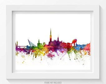 Seville Poster, Seville Skyline, Seville Cityscape, Seville Print, Seville Art, Seville Decor, Home Decor, Gift Idea 06