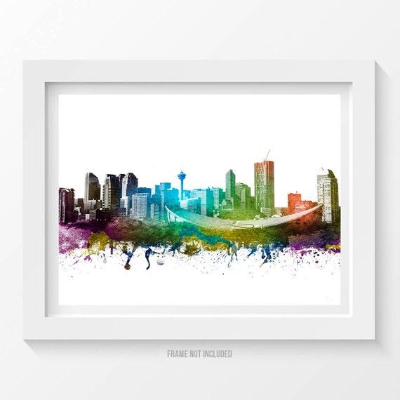 Calgary Canada Poster Calgary Skyline Calgary by Agedpixel