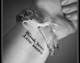 quote tattoo fake tattoo quote temporary tattoo quote