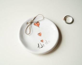 Modern Ring Pillow, Ring Bearer Pillow Alternative, Wedding Ring Bearer, Ring Plate, Wedding Ring Holder, Ceramics and Pottery