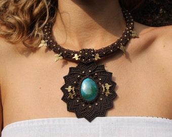 Magic Macramé Necklace for a Godess