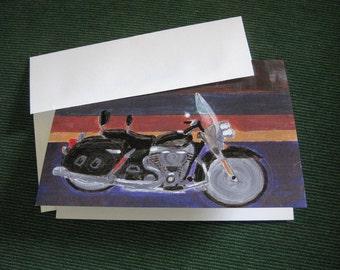 Motorcycle at Dusk Greeting Card