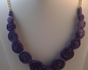 Purple tshirt jewelry set