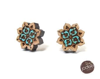 Mandala Boho Flower shaped Stud Earrings
