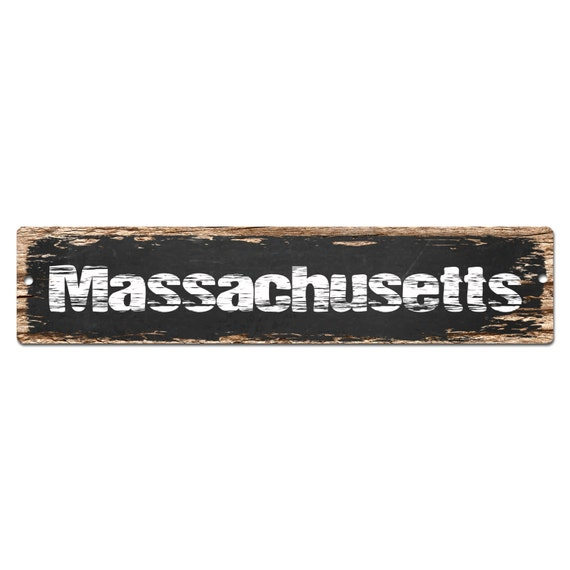 home decor stores massachusetts sp 0069 massachusetts plate chic sign rust by 11194