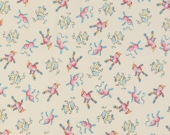 Baum Textiles Retro Baby OOP Fabric - Welcome Baby Dear Collection - Toys 16908 - One Yard