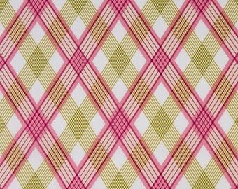 Joel Dewberry OOP Fabric for Free Spirit - Modern Meadow Collection - Picnic Plaid JD40 in Berry - One Yard