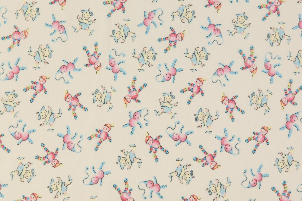Baum textiles retro baby oop fabric welcome baby dear for Retro baby fabric
