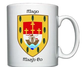 County Mayo coat of arms, mug / cup.