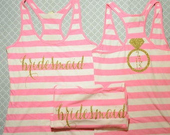 Striped Tanks!!!!  (Old Gold Glitter)