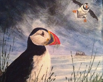 Welcome Home. Puffin Card