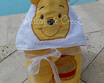 Winnie the Pooh Hooded Towel FREE MONOGRAM