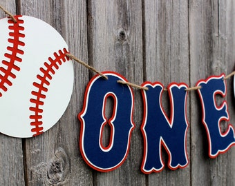 Baseball High Chair Banner - ONE Banner