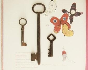 Sale-Set of three keys. Set 3 Keys. Iron, iron.