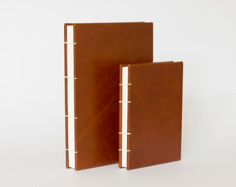 Hand crafted coptic bound notebook/journal