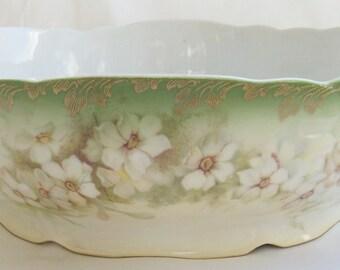 Antique Rosenthal Porcelain Centerpiece or Serving Bowl Ferner 1898 - 1902 - Free Shipping