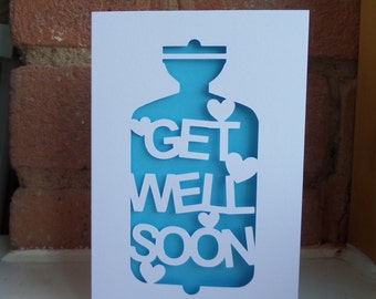 Get Well Soon Cut Out Card