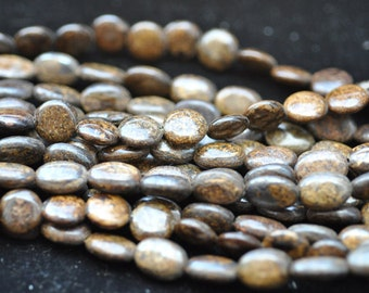 Bronzite oval Beads 10x14mm 16 Inches Strand