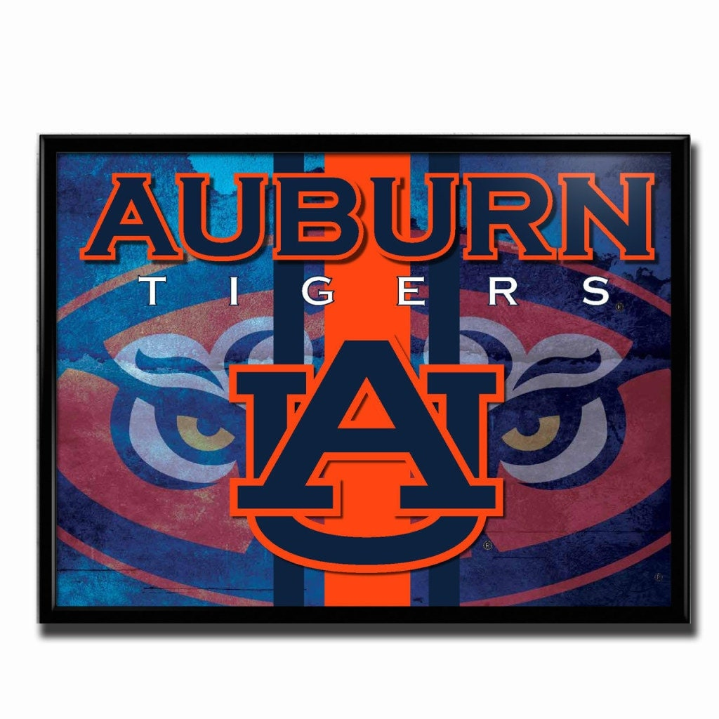 Auburn Tigers Football Poster Grunge Authentic Team Spirit