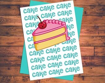 Cake Cake Cake Cake - RIHANNA BIRTHDAY CAKE Song - Birthday Greeting Card w/teal envelope