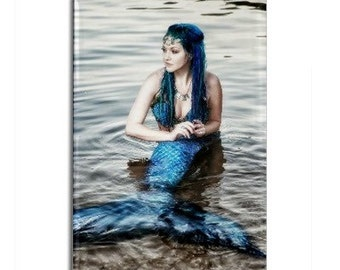 Moon Mermaid Photo Magnet