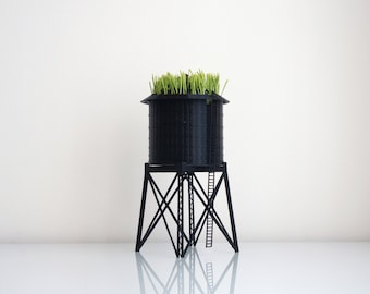 New York City Water Tower Pot / Wheatgrass Planter - Small by TO+WN DESIGN