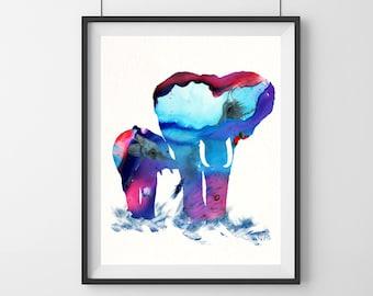 Elephant Art Print - baby - Elephant Art - nursery decor