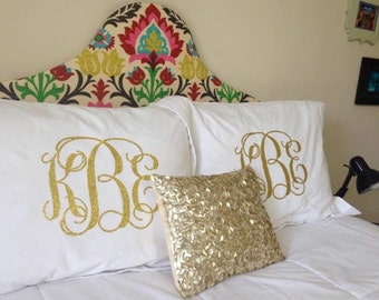 Monogrammed Pillow Shams (Set of 2)