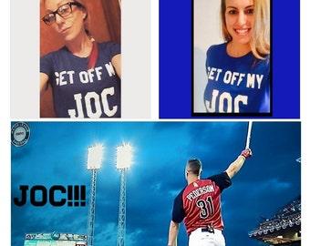 "Ladies Joc Pederson ""Get Off My Joc"" Dodger Shirt Joc Joc Pederson Shirt JocPederson Joc 31"