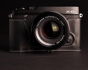 Fuji Film XE2, XE1/X-E2 Case, Fuji leather cameras case, Leather Camera Half Case