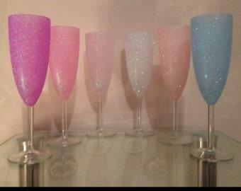 Set of 3 champagne flutes