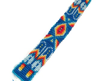 Tribal Inspired Macrame Bracelet, Customizable, Knotted Friendship Bracelet, Aztec, Adjustable, Boho Hippie Style, Woven Bracelet, Trendy,
