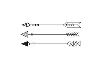Triple Arrow Design SVG Digital File