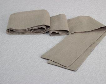 BELT, Sash Belt, Tie Linen Belt, Beige Obi Belt, Versatile Belt