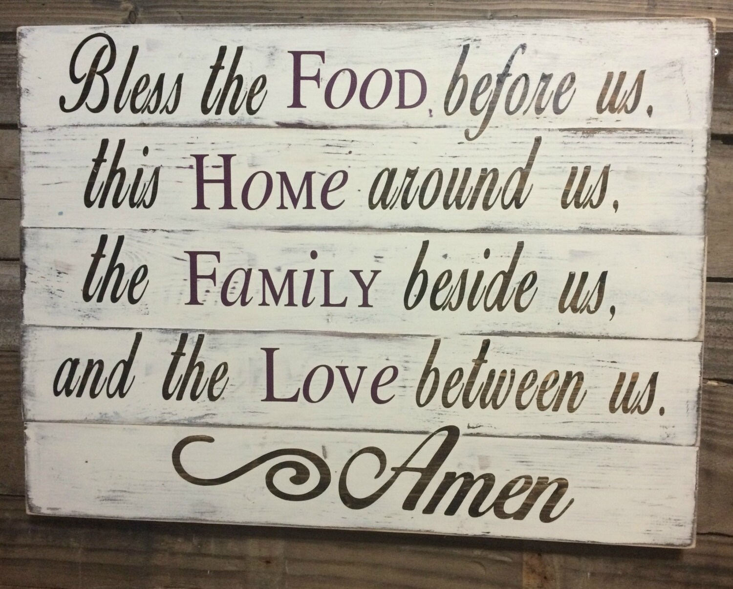 Dining Room Sign Kitchen Christian Home Decor