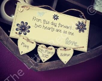 Personalised/Bespoke Handmade Wedding Plaque