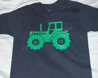 Custom tractor boys shirt