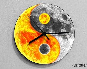 Sun and Moon Yin Yang - Moon Wall Clock