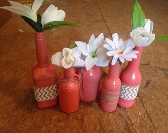 Rustic bottles and vases