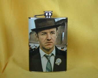 Gene Hackman as Popeye Doyle in The French Connection -  8 oz stainless steel flask (RN 2063)